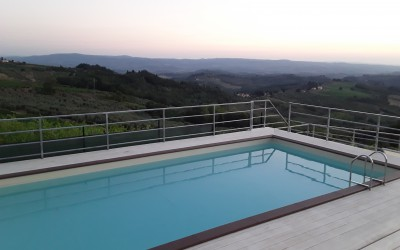 The swimming pool at Podere Ghiole